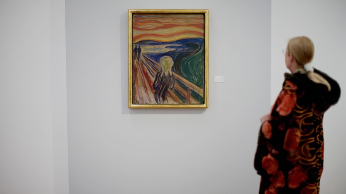 """The Scream"" by expressionist painter Edvard Munch."