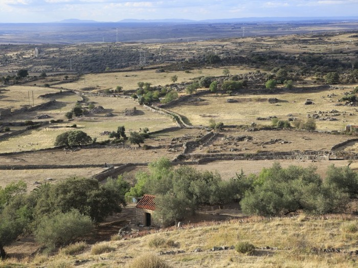 View over countryside from historic medieval town of Trujillo, Caceres province, Extremadura, Spain.