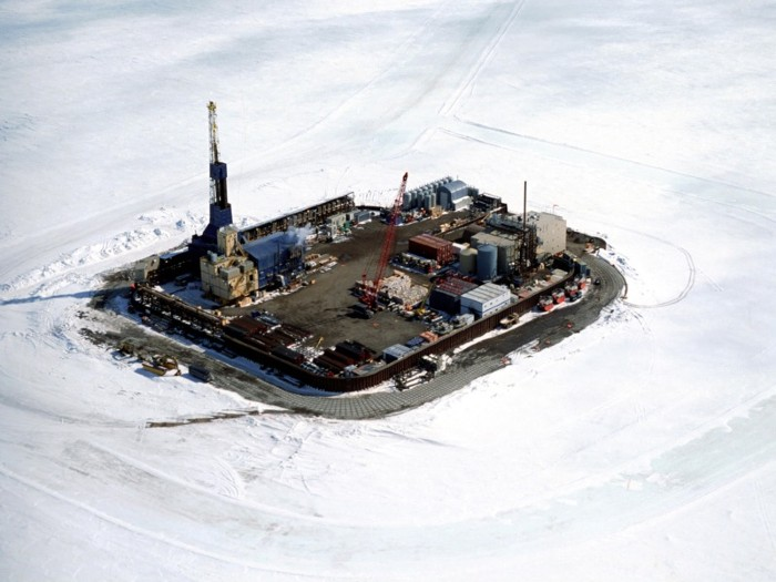 Northstar Island in the Beaufort Sea.