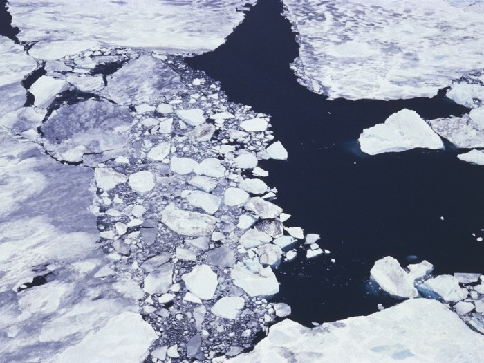 Aerial view of ice pack - Ross Sea, Antarctica.