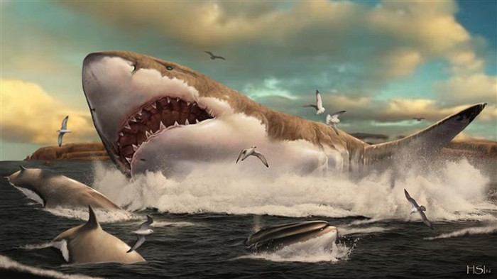Artist impression of Megalodons' nursery.