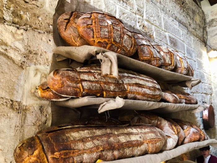 Bread On Shelves In Bakery in Altamura. Apulia, Italy.