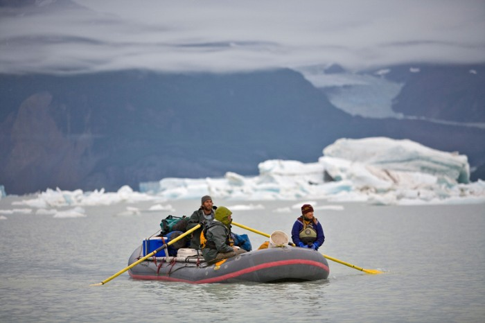 Rafters on the Alsek river, Alaska