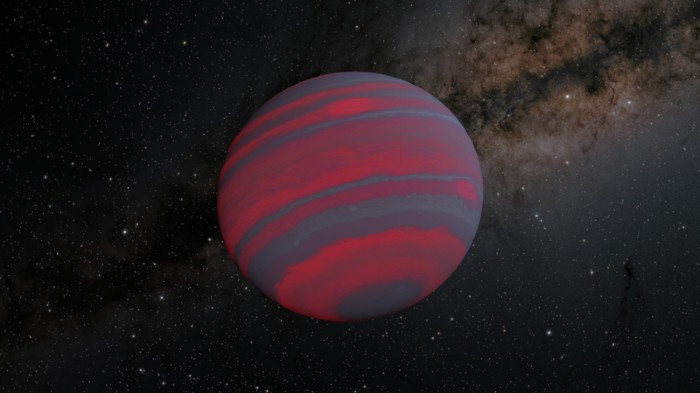 Illustration of a brown dwarf