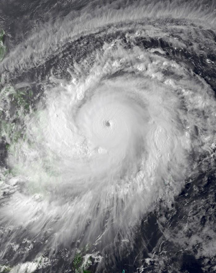 Satellite image of Super Typhoon Surigae