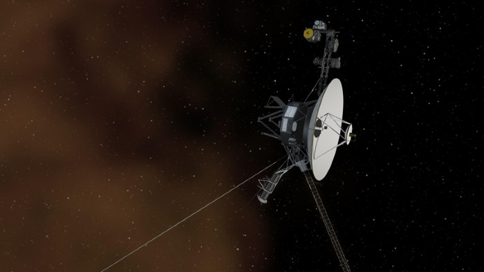 Artist's concept of NASA's Voyager 1 spacecraft entering interstellar space