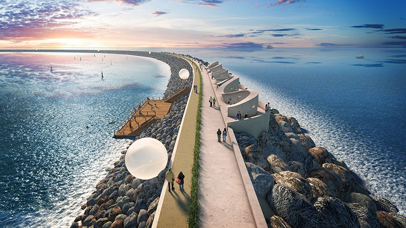 proposed tidal barrage in Swansea Bay