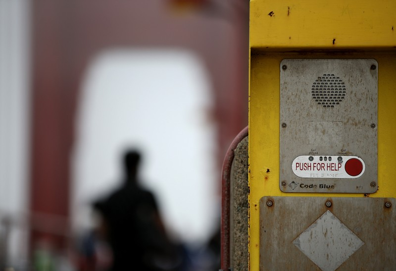 Photo of call box on Golden Gate Bridge