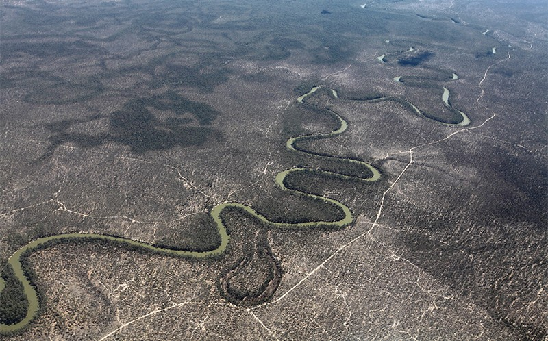 Murray River seen from the air, 2015.