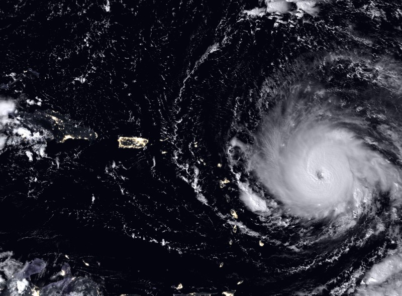 Satellite image of Hurricane Irma