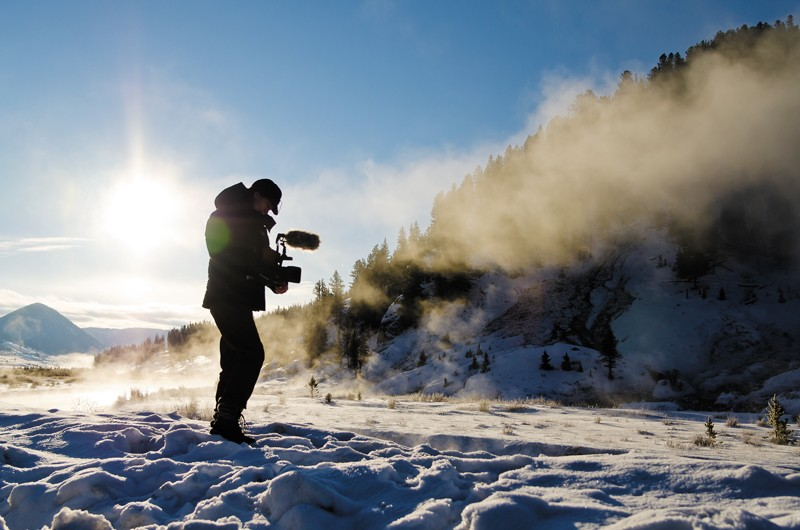 Filming in Yellowstone