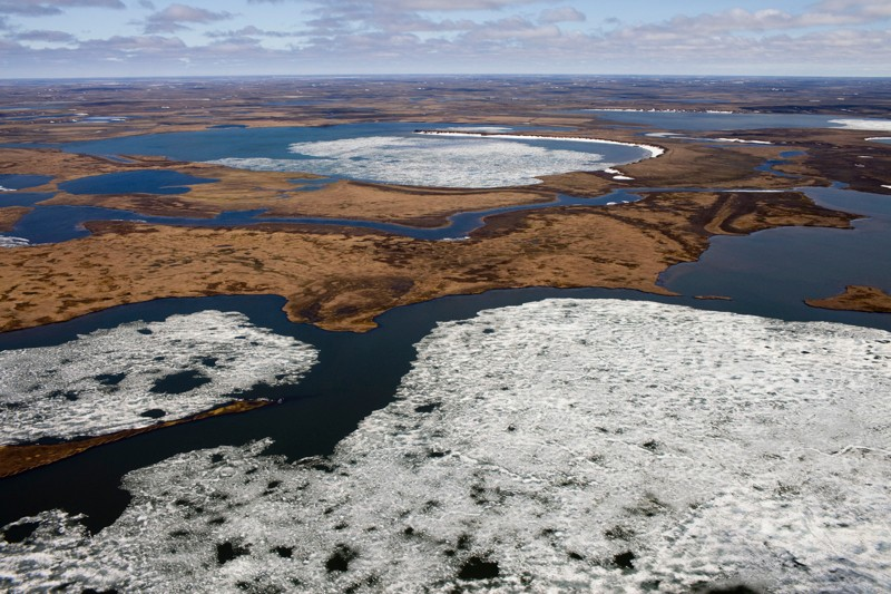 Picture of melting permafrost in Siberia