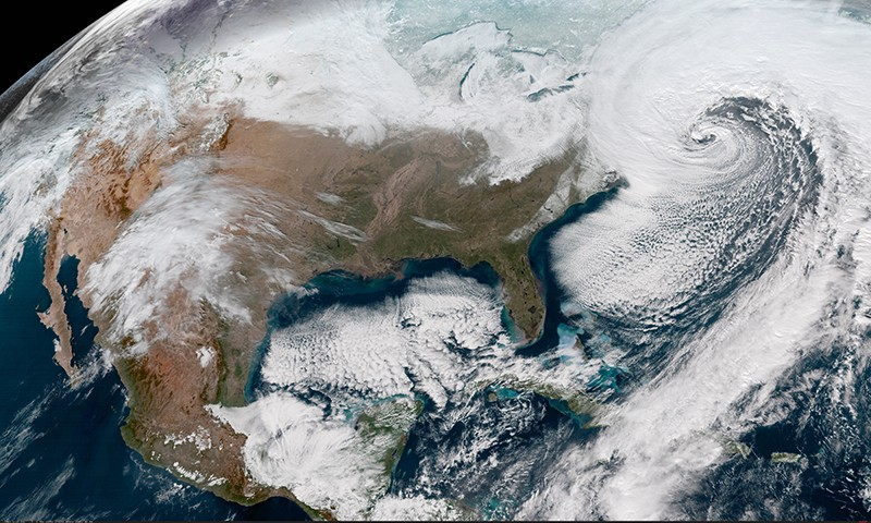 Satellite image of winter storm