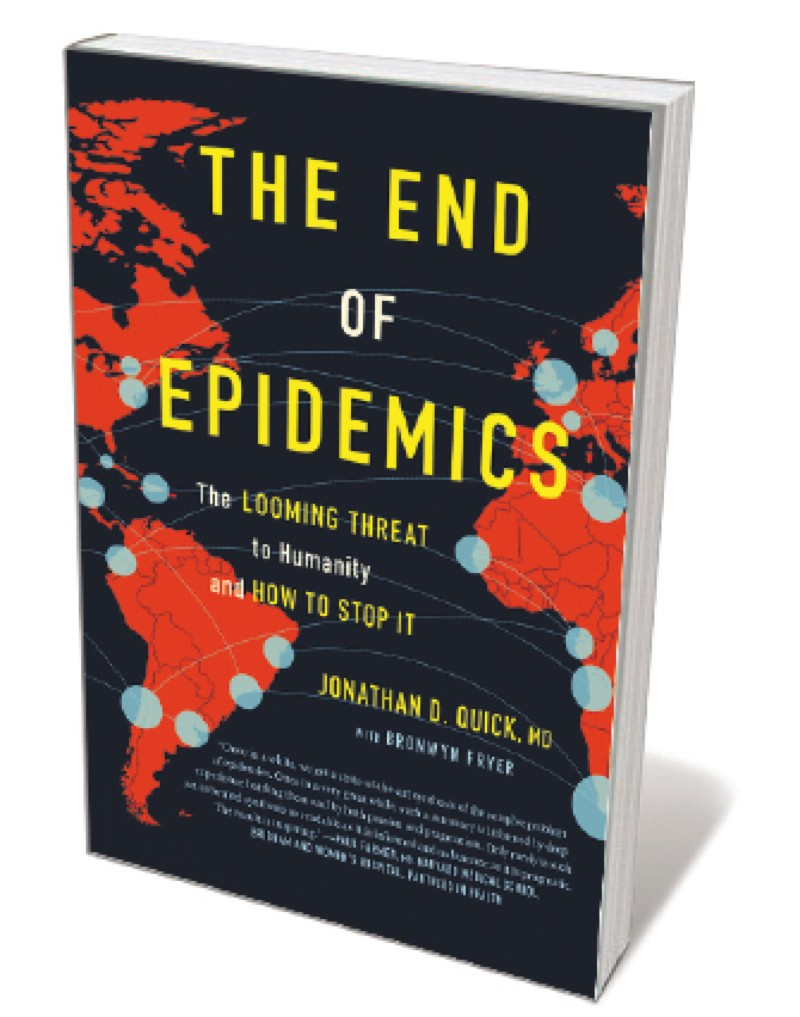 Book jacket 'End of Epidemics'