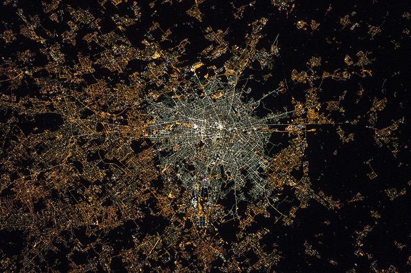 0dac4beafbf40f Satellite image of Milan Italy at night