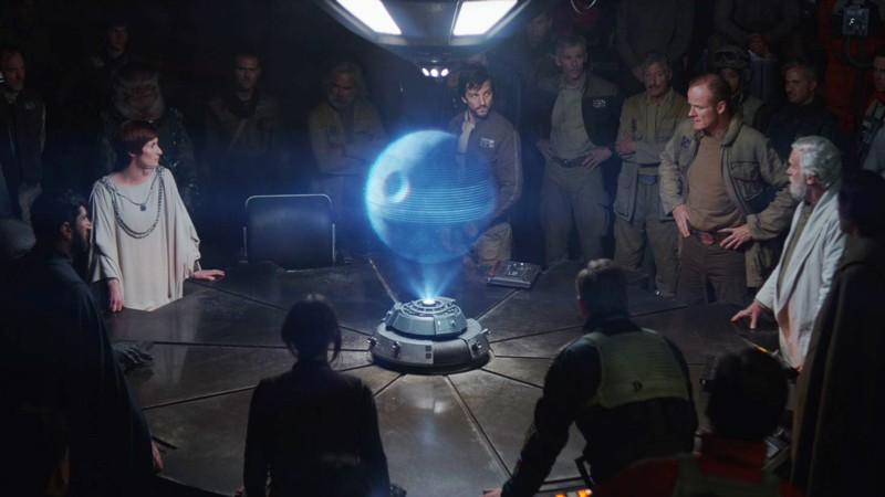 3D hologram in 'Rogue One: A Star Wars Story'
