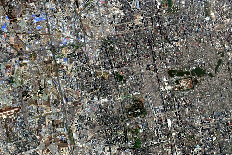 Satellite image of Beijing