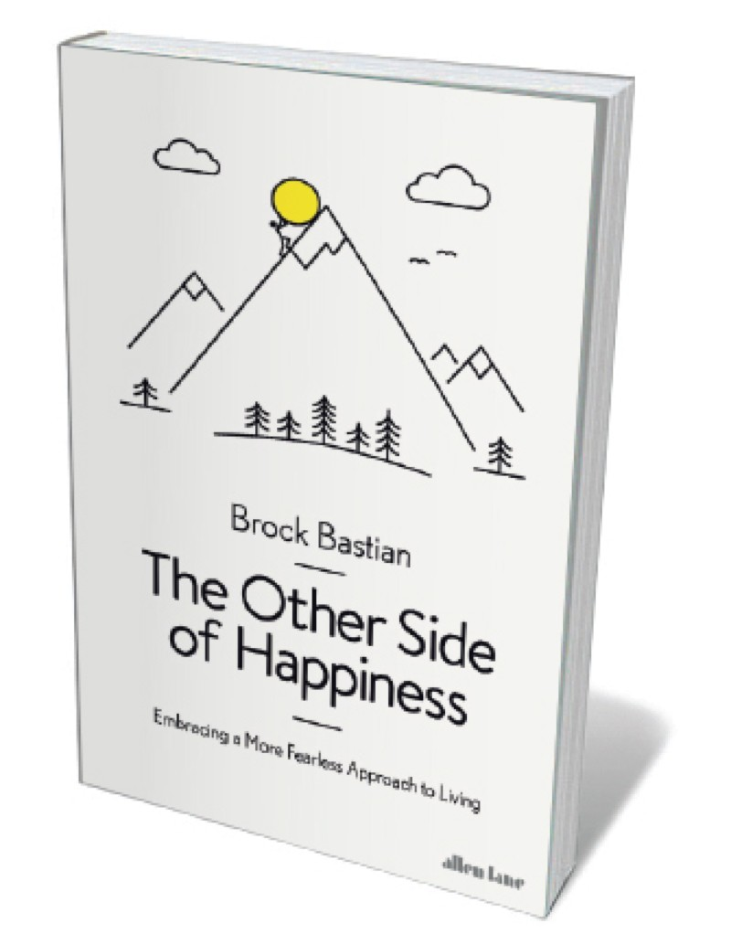 Book jacket 'Other Side of Happiness'