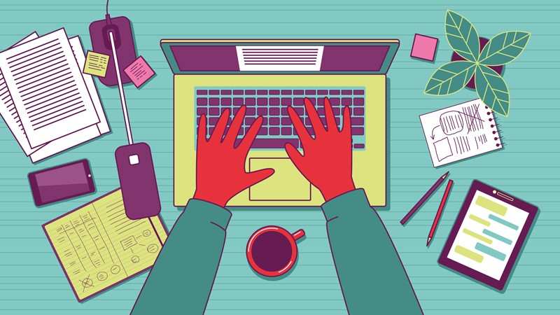 Blogging illustration