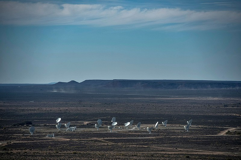 MeerKAT telescope array in South Africa