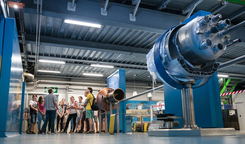 Students take a tour at CERN