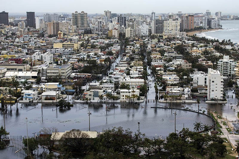 Flooding in San Juan Puerto Rico