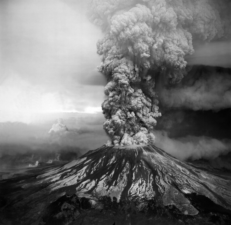 Mount St Helens volcano eruption, 19 May 1980.
