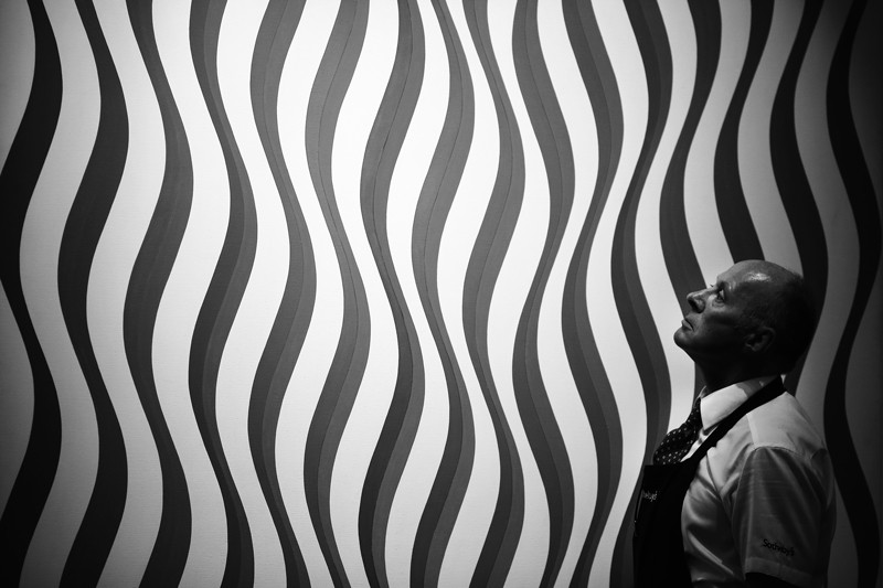 'Image I Revised White' by Bridget Riley