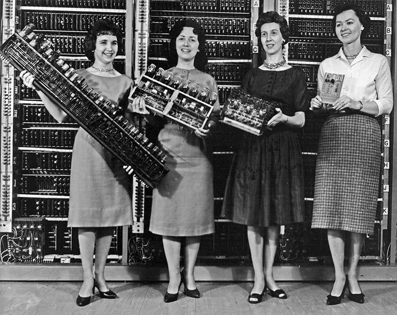 Four women of the Electronic Numerical Integrator And Computer in the 1940s