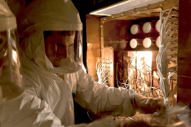 A scientist working on the DAMA-LIBRA experiment at Gran Sasso Laboratory.