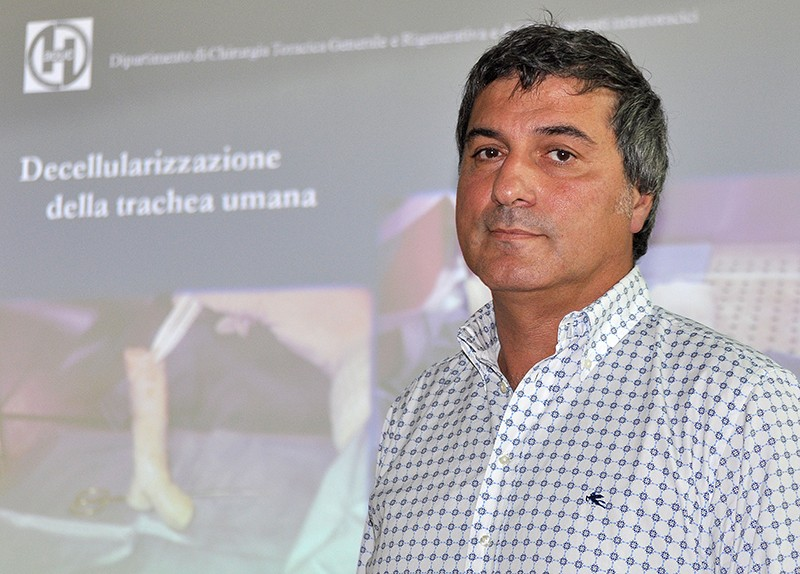 Paolo Macchiarini at a press conference in 2010.