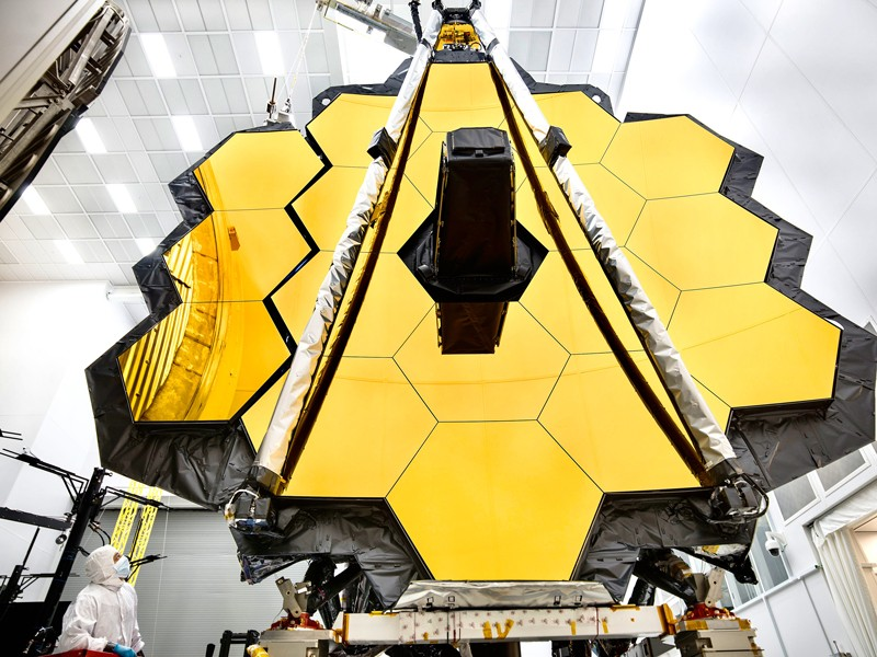 Primary mirror of NASA's James Webb Space Telescope