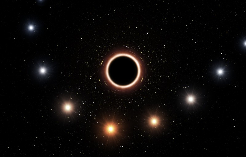 Artist's impression of the start S2 passing by the galactic centre