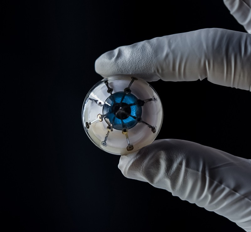 "The 3D printed optoelectronic ""bionic eye"" device"