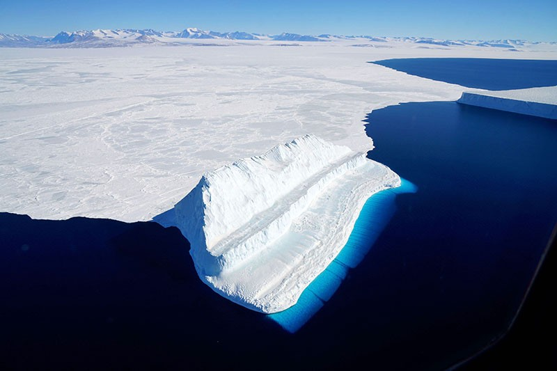 An iceberg floating in Antarctica's McMurdo Sound