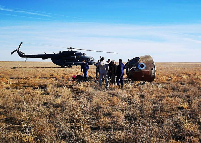 The Soyuz MS-10 space capsule crash landed on October 11, 2018