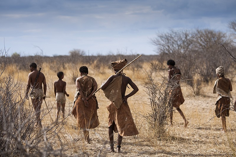 Members of the San tribe, Kalahari Desert, Botswana, Africa