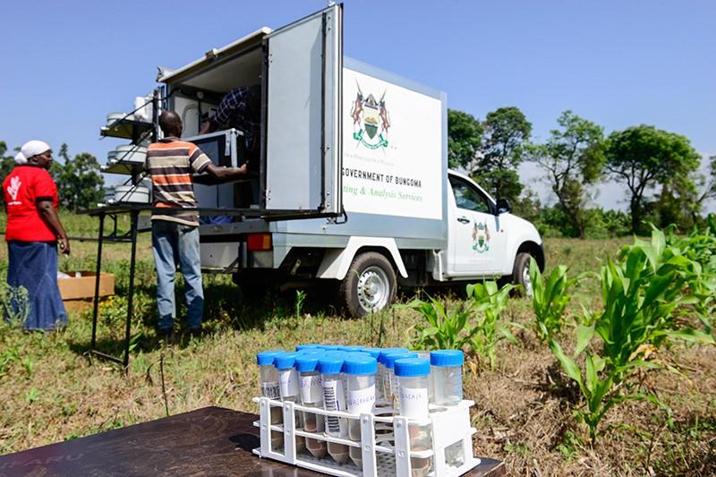 Mobile soil testing lab in Kenya