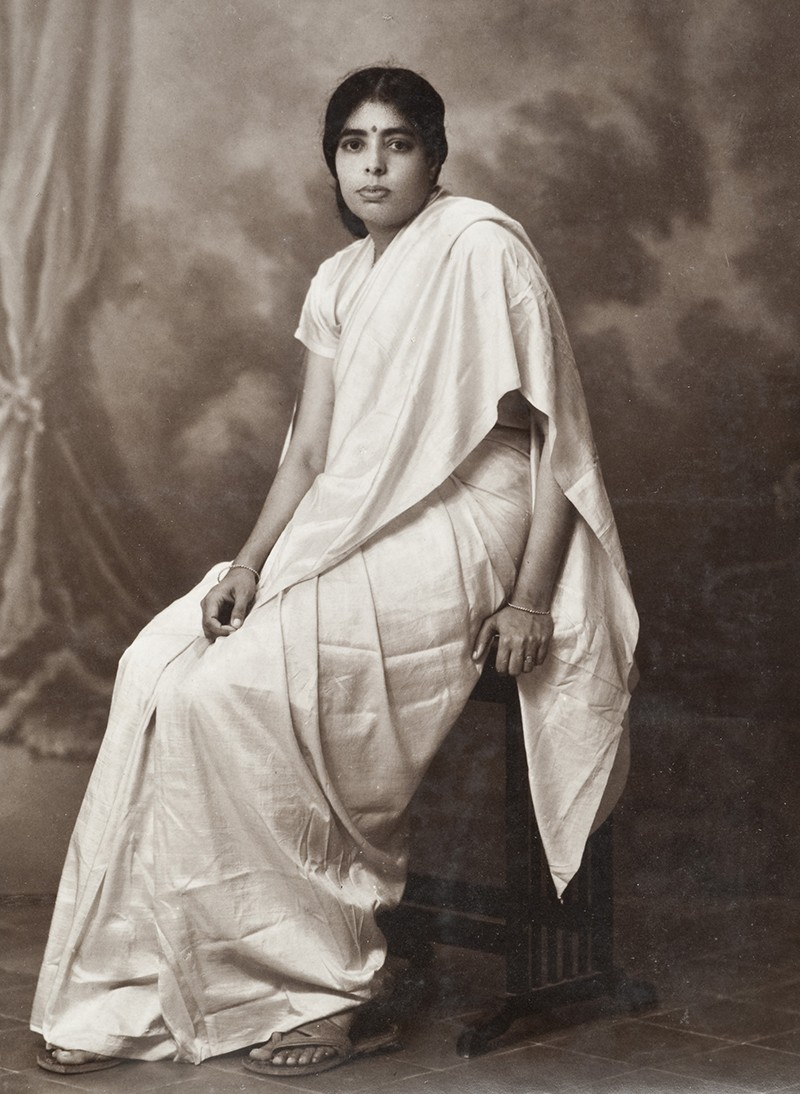 Janaki Ammal sititng in a posed photograph