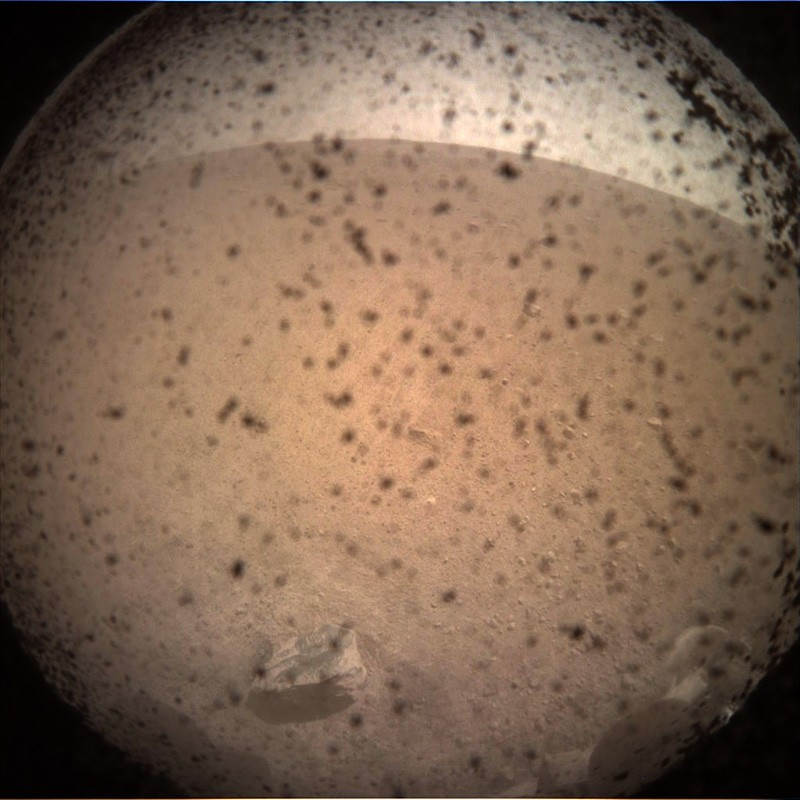 This is the first image taken by NASA's InSight lander on the surface of Mars