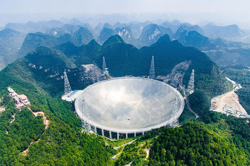 The five-hundred-meter Aperture Spherical Radio Telescope