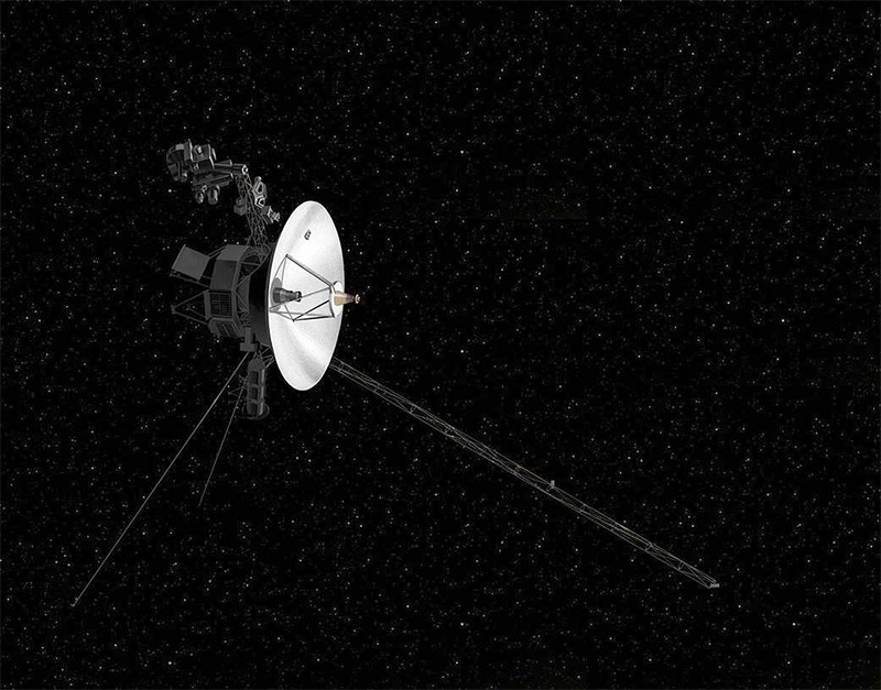 Illustration of the voyager 2 probe