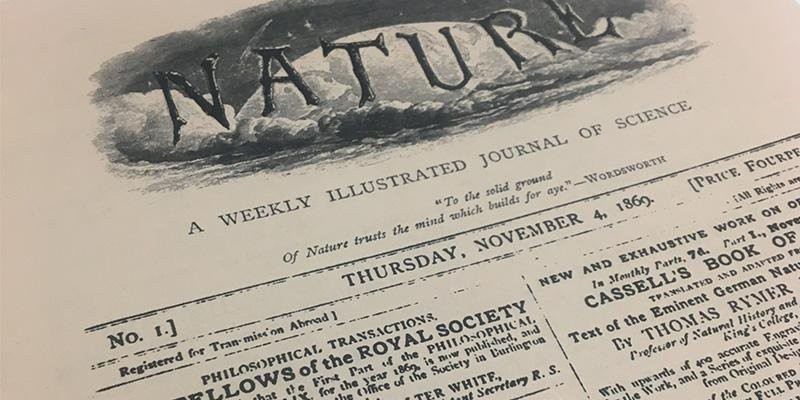 The first issue of Nature