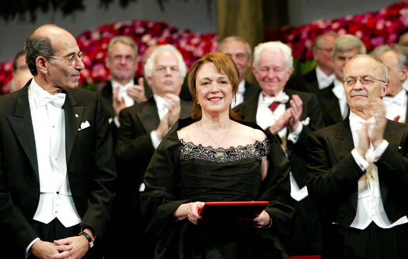 Linda B. Buck at the 2004 Nobel Prize Ceremony