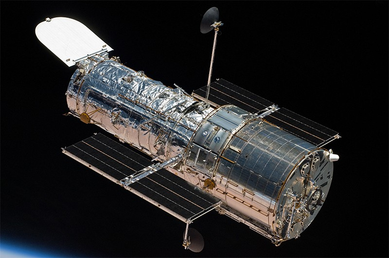 The hubble telescope in orbit