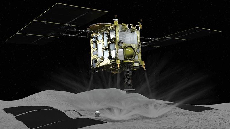 Japan's Hayabusa2 craft touches down on asteroid Ryugu