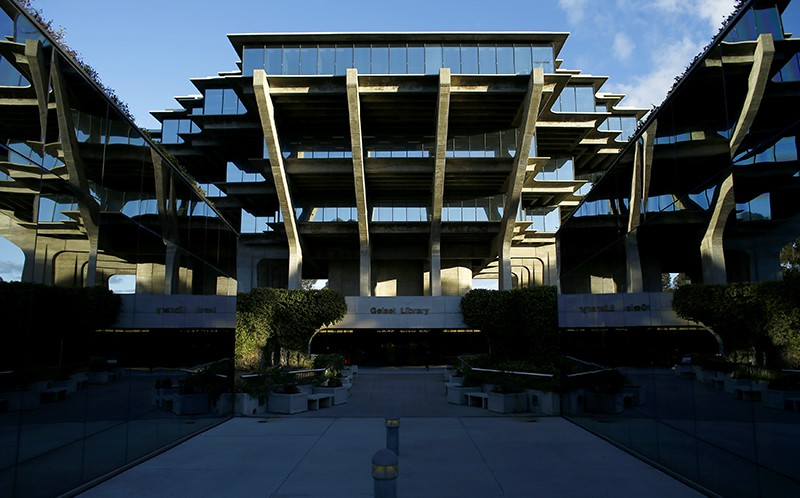 The Geisel Library building at the University of California San Diego