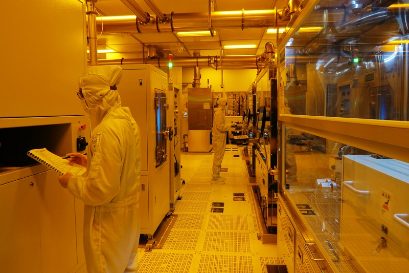 Researchers in the semiconductor research laboratory at the Taiwan Semiconductor Manufacturing Company