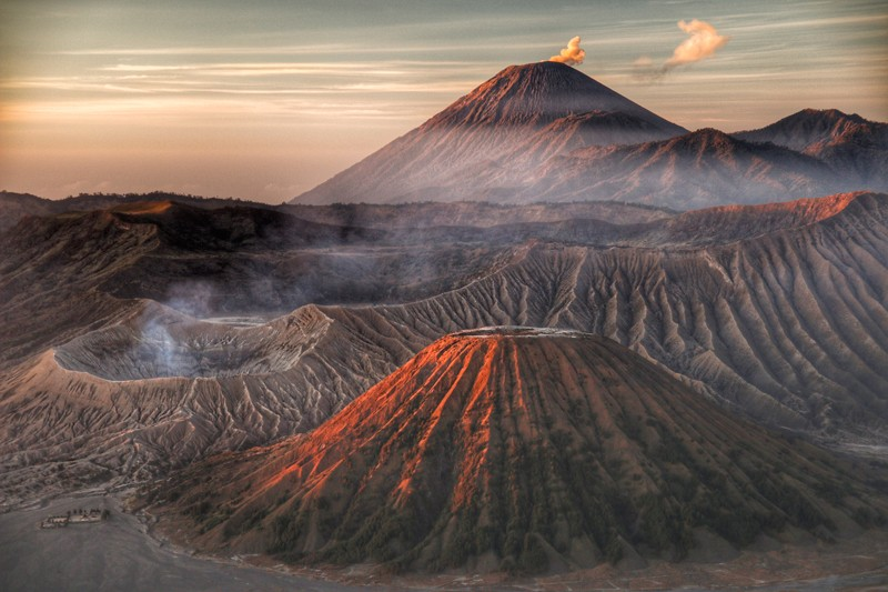 Sunrise breaking over Mount Bromo in East Java, Indonesia. Shortlisted in the 2019 Sony World Photography Awards