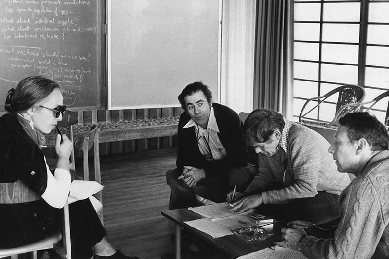 Maxine Singer, Norton Zinder, Sydney Brenner and Paul Berg in 1975.